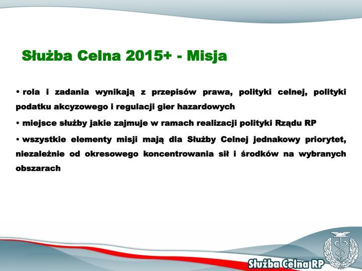 Służba Celna 2015+ - Misja