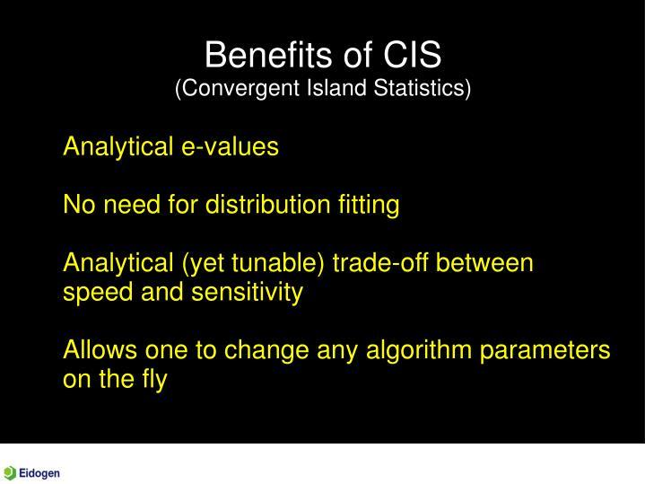 Benefits of CIS
