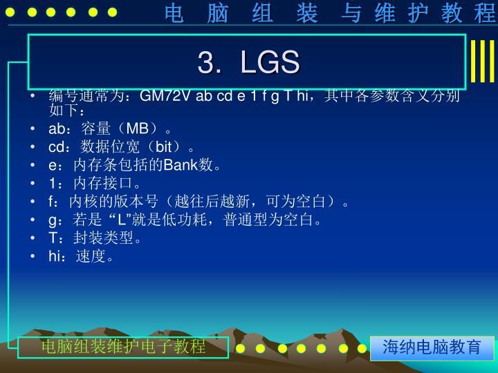 3.  LGS