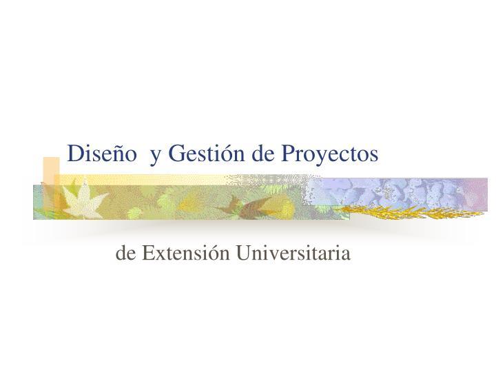 Diseño  y Gestión de Proyectos