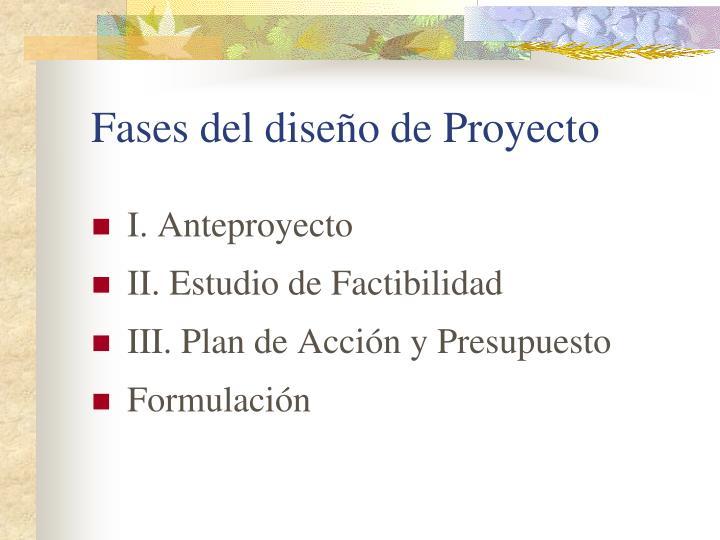 Fases del diseño de Proyecto