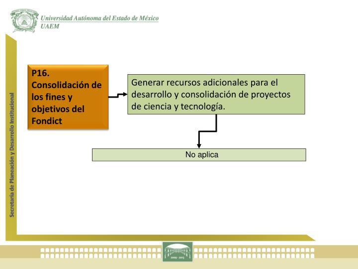 P16. Consolidación de los fines y objetivos del