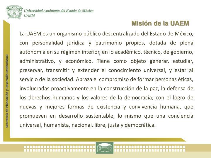 Misión de la UAEM