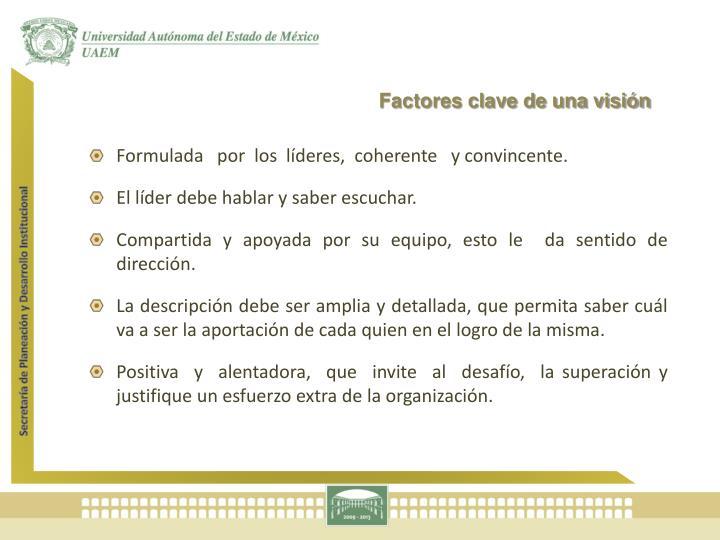 Factores clave de una visión