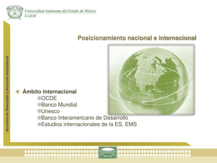 Posicionamiento nacional e internacional