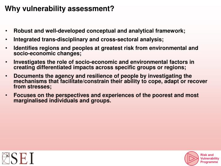Why vulnerability assessment?