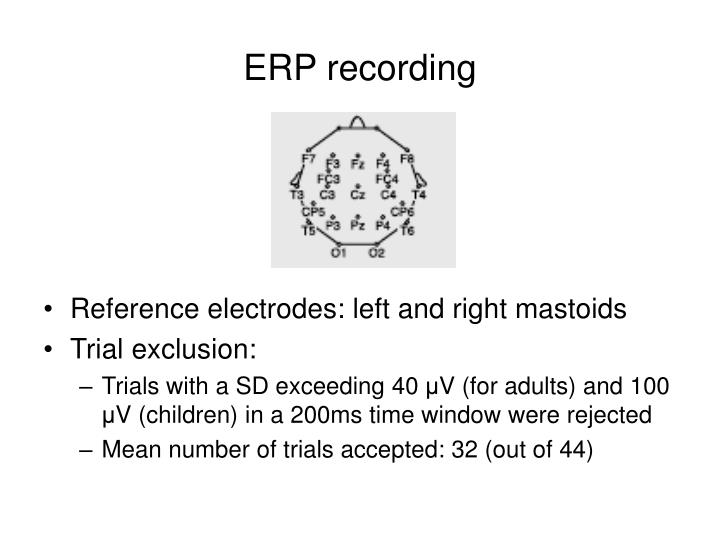 ERP recording
