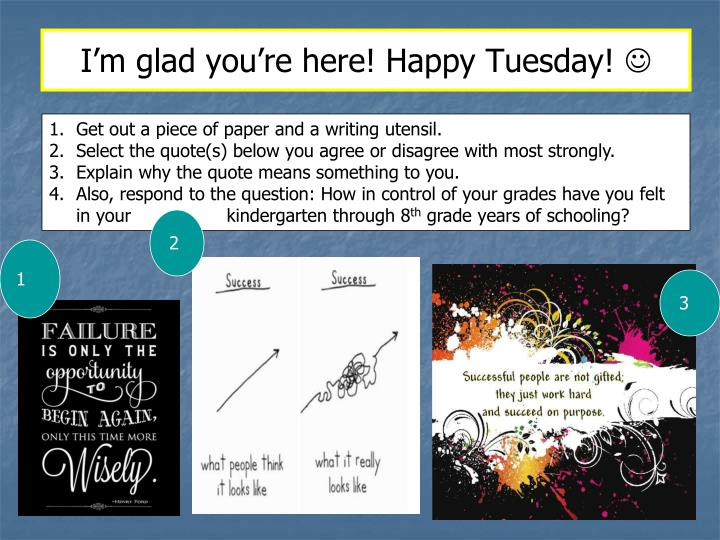 I'm glad you're here! Happy Tuesday!