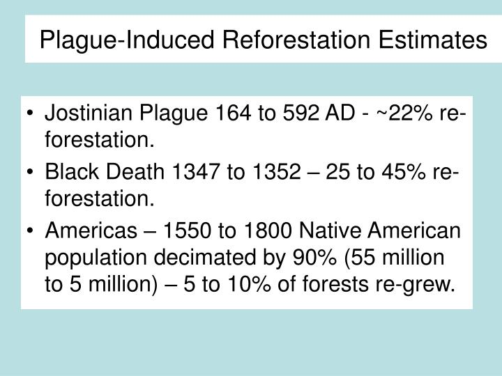 Plague-Induced Reforestation Estimates