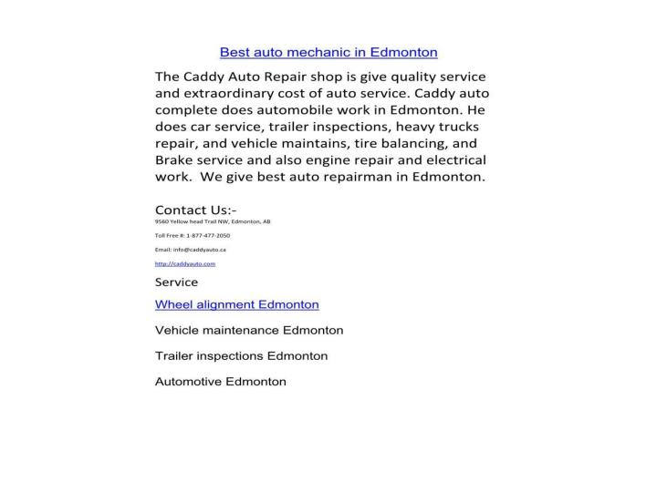 Best auto mechanic in edmonton 3595209