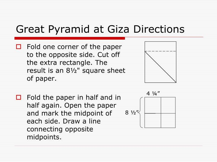 Great Pyramid at Giza Directions
