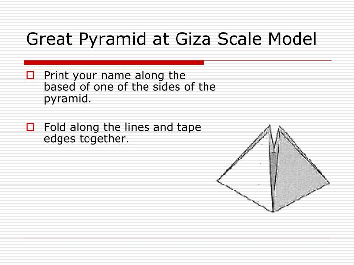 Great Pyramid at Giza Scale Model