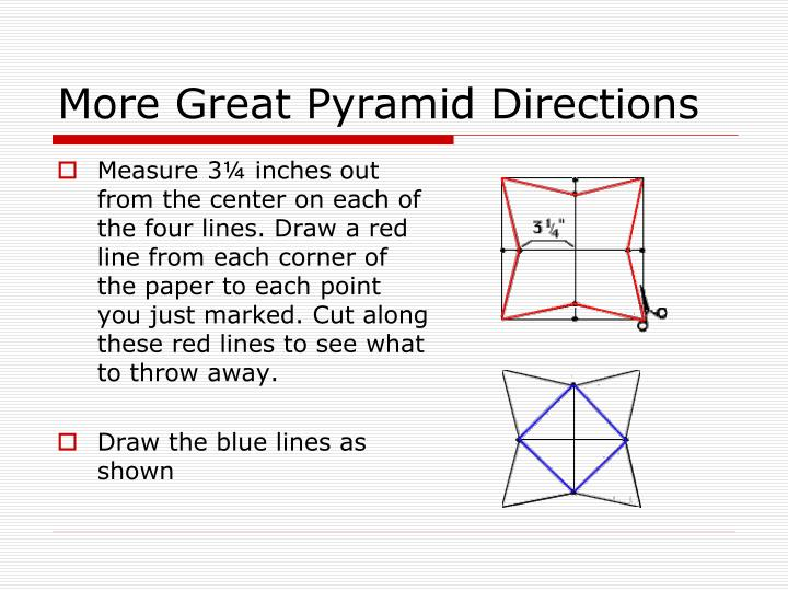 More Great Pyramid Directions