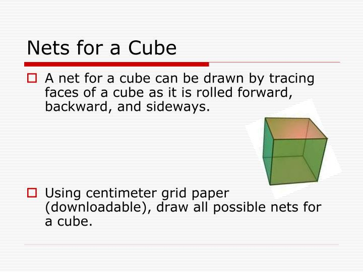 Nets for a Cube