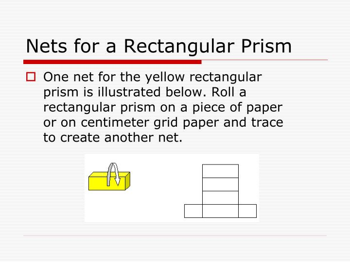 Nets for a Rectangular Prism