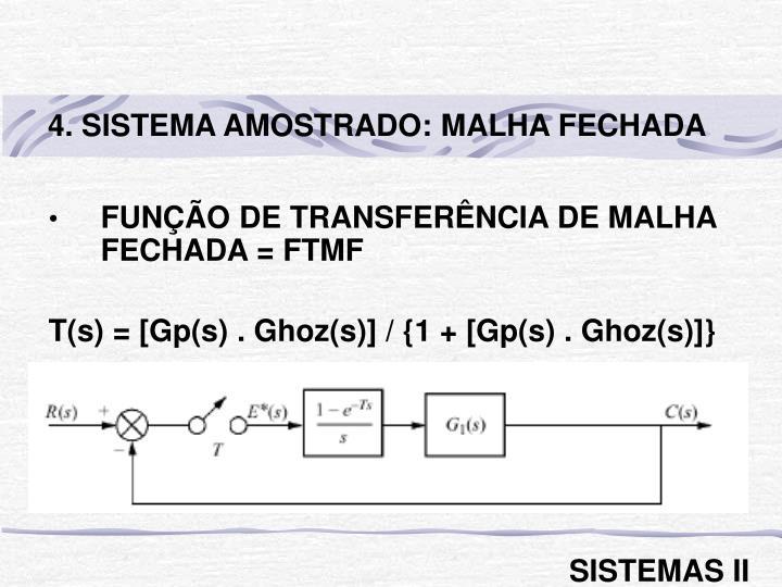 4. SISTEMA AMOSTRADO: MALHA FECHADA