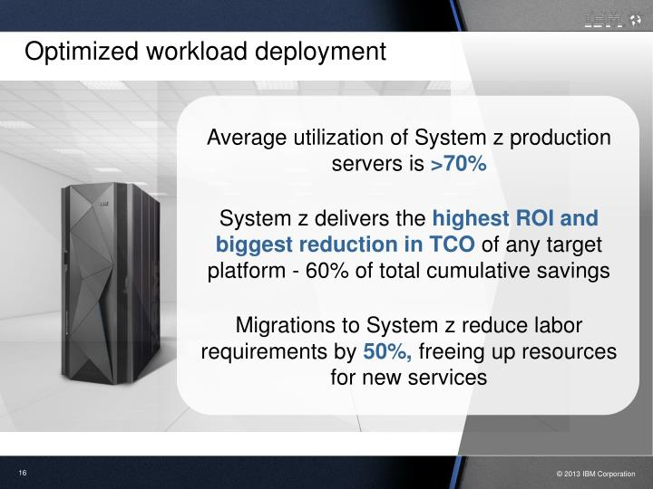Optimized workload deployment