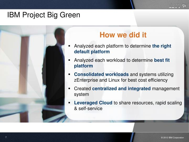 IBM Project Big Green