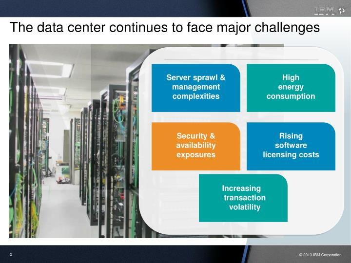 The data center continues to face major challenges