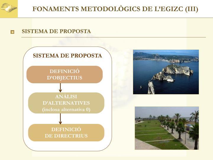 FONAMENTS METODOLÒGICS DE L'EGIZC (III)