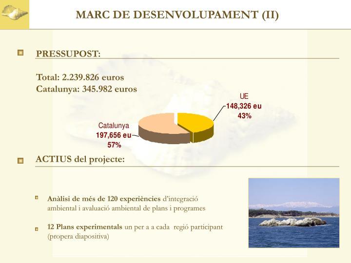 MARC DE DESENVOLUPAMENT (II)