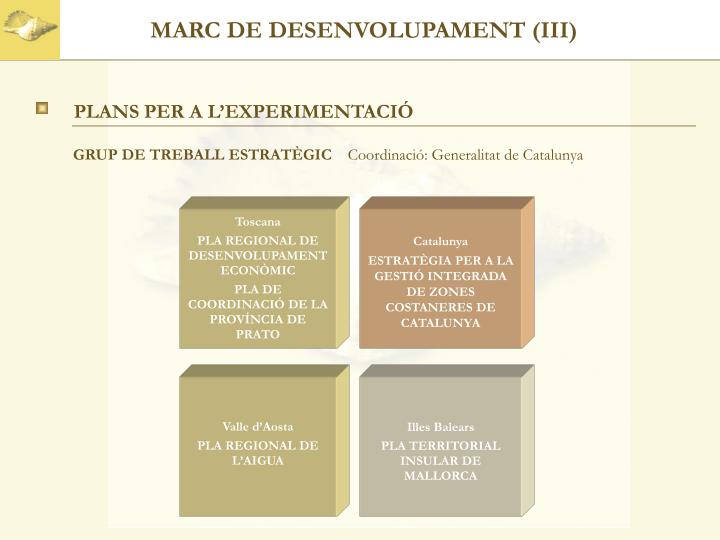 MARC DE DESENVOLUPAMENT (III)