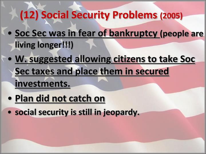 (12) Social Security Problems