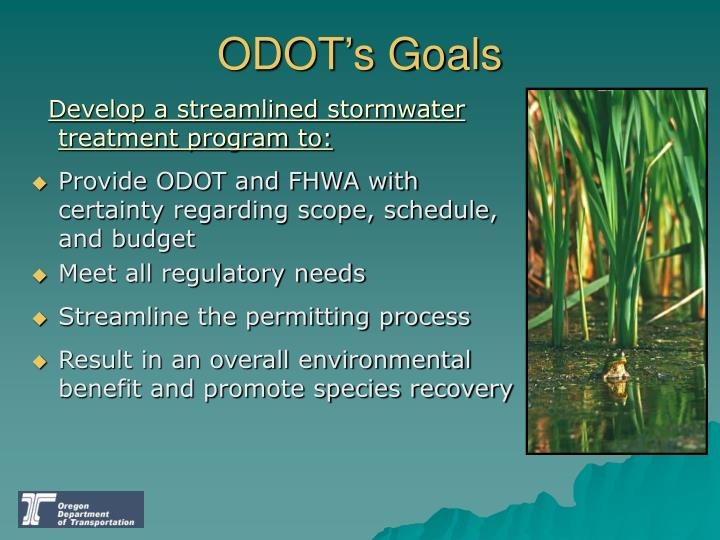 ODOT's Goals