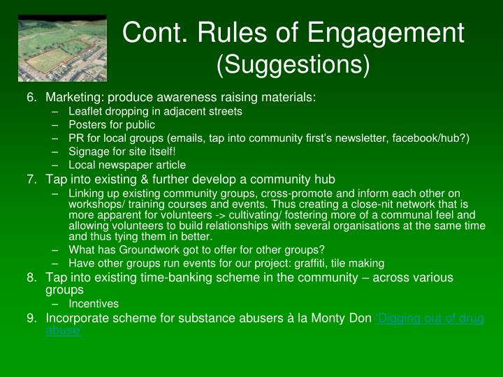 Cont. Rules of Engagement