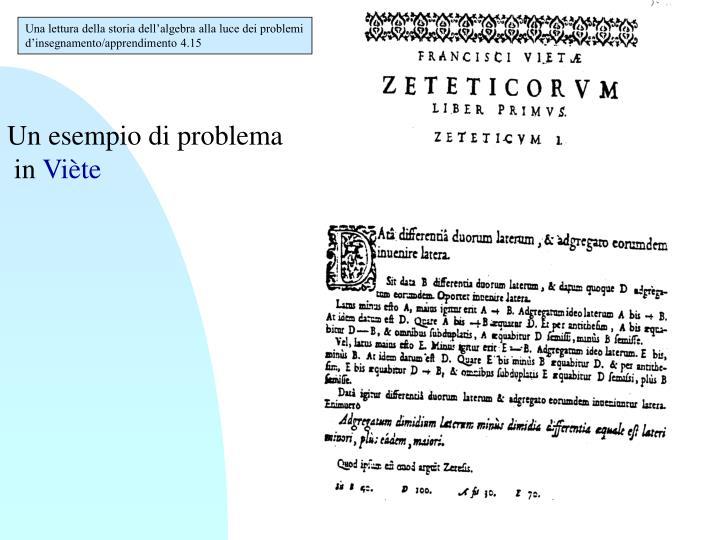 Una lettura della storia dell'algebra alla luce dei problemi d'insegnamento/apprendimento 4.15