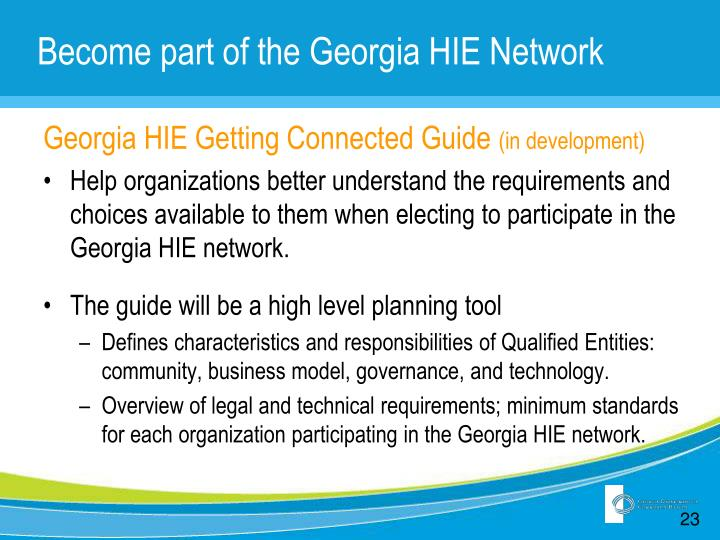 Become part of the Georgia HIE Network