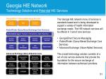 georgia hie network technology solution and potential hie services