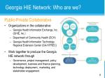 georgia hie network who are we