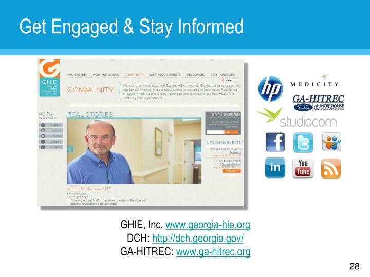 Get Engaged & Stay Informed