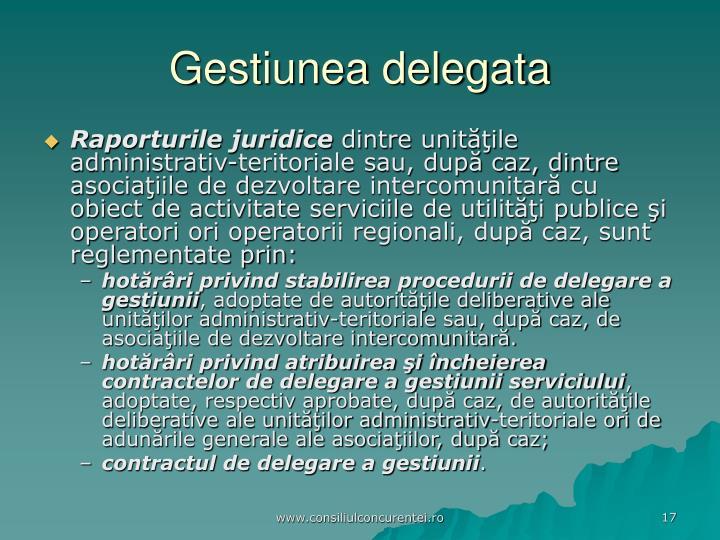 Gestiunea delegata