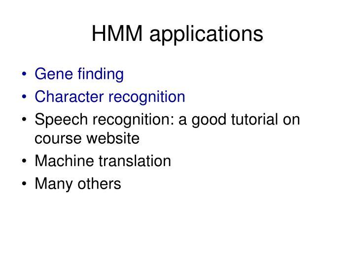 HMM applications