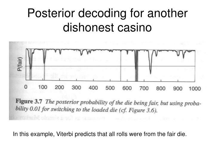 Posterior decoding for another dishonest casino
