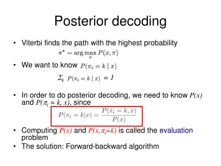 Posterior decoding