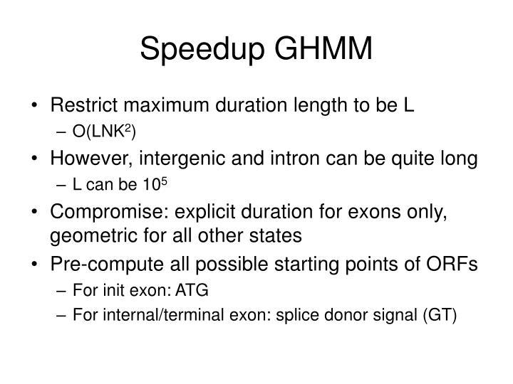 Speedup GHMM