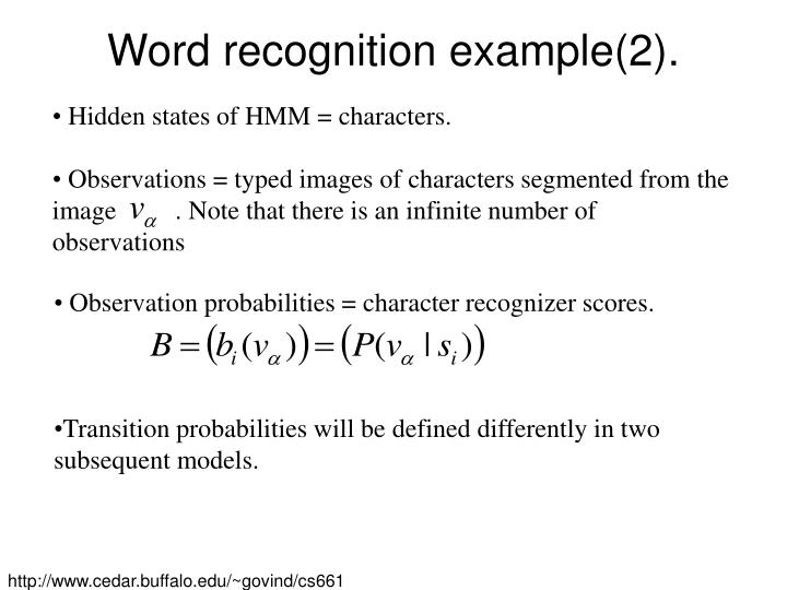 Word recognition example(2).