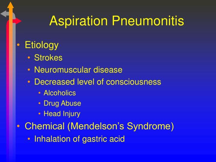 Aspiration Pneumonitis