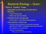bacterial etiology gram1