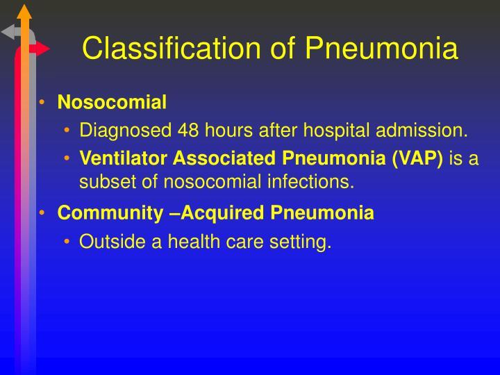 Classification of Pneumonia