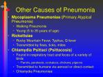 other causes of pneumonia