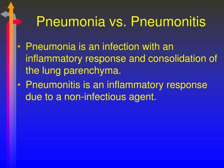 Pneumonia vs. Pneumonitis