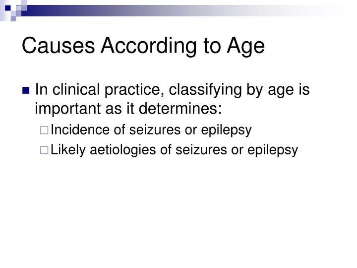 Causes According to Age