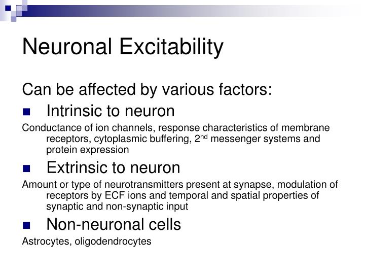 Neuronal Excitability