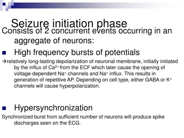Seizure initiation phase