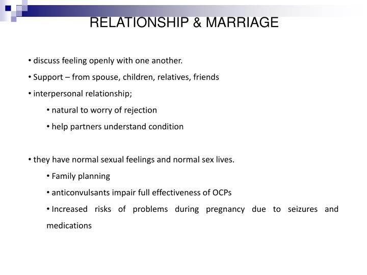 RELATIONSHIP & MARRIAGE