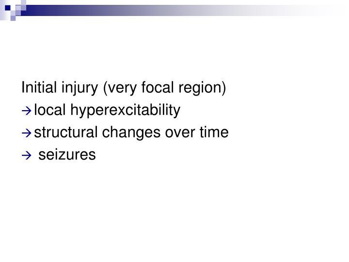 Initial injury (very focal region)